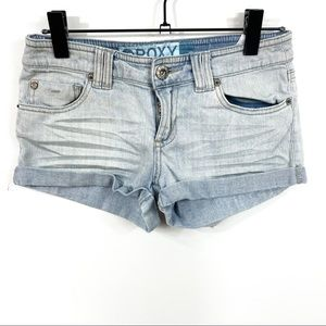 Roxy Light Wash Jean Shorts